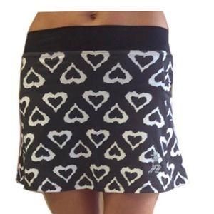5/$20 Black Hearts Running Skirt NWOT